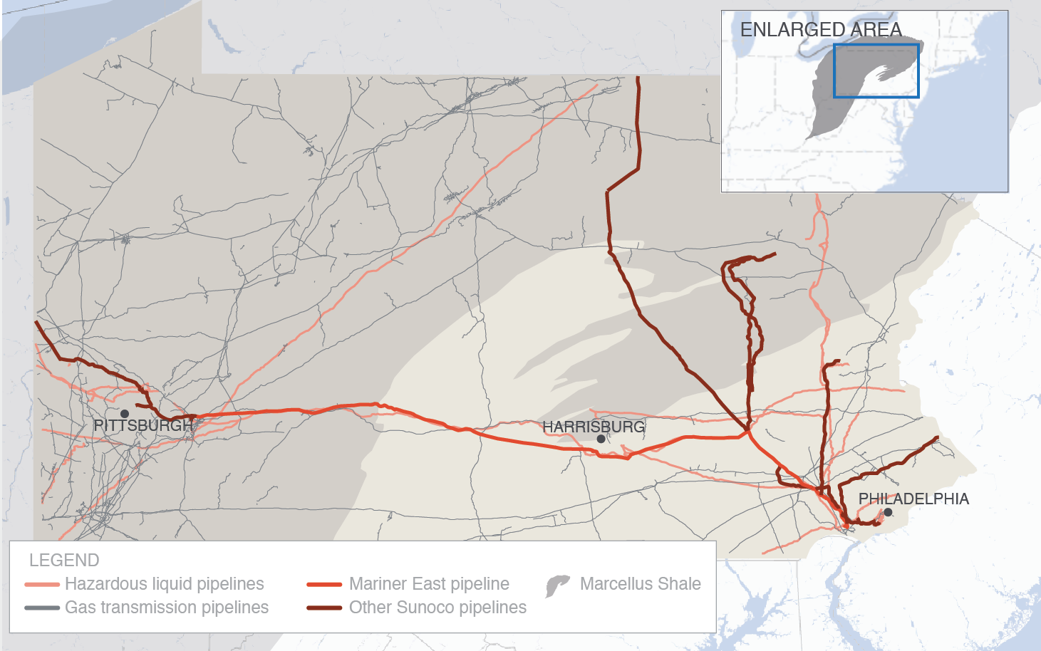 Pennsylvania gas pipelines